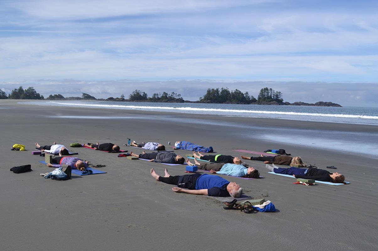 Shivansana on Tofino Beach