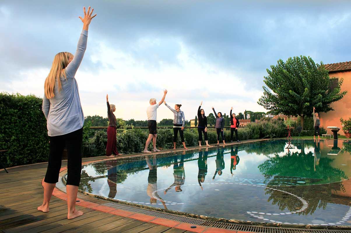 Dorothy Price Yoga in Tuscany