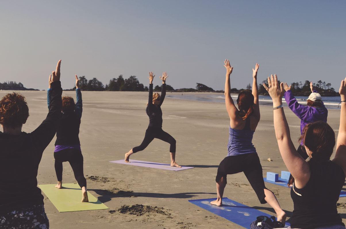Yoga Class on the Beach