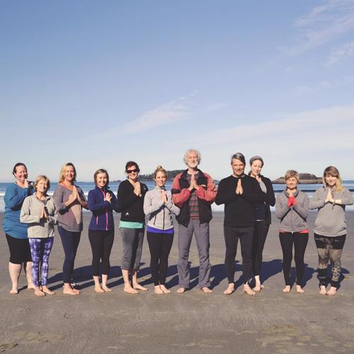 Yoga Group on Tofino Beach