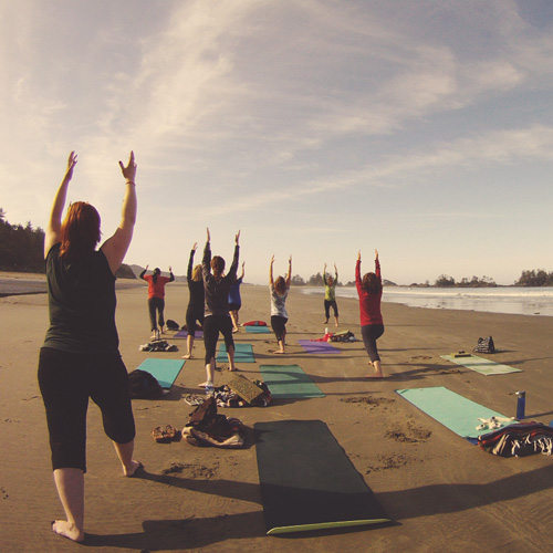 Yoga in Tofino